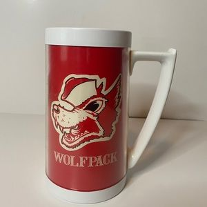 Vintage NC State Wolf Pack Plastic Thermo Cup